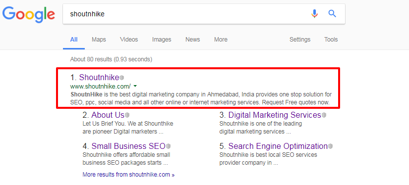 Google Snippet 160 Characters